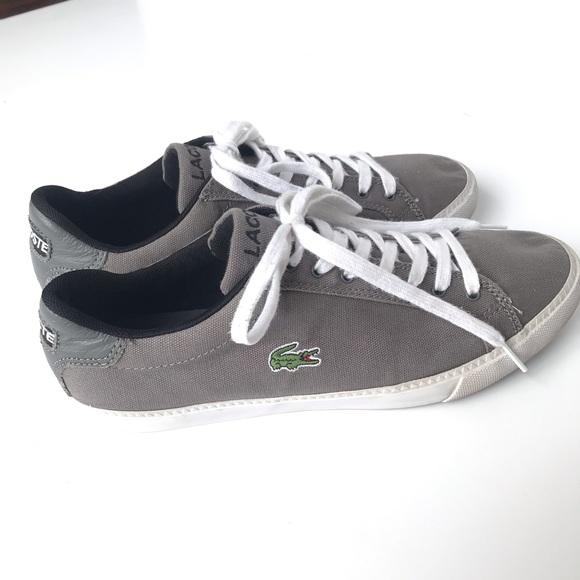 Lacoste Graduate Vulc Gray Canvas Sneakers